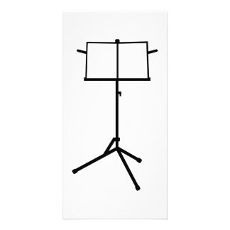Music stand photo card