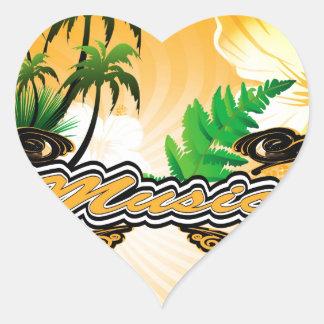 Music Heart Stickers