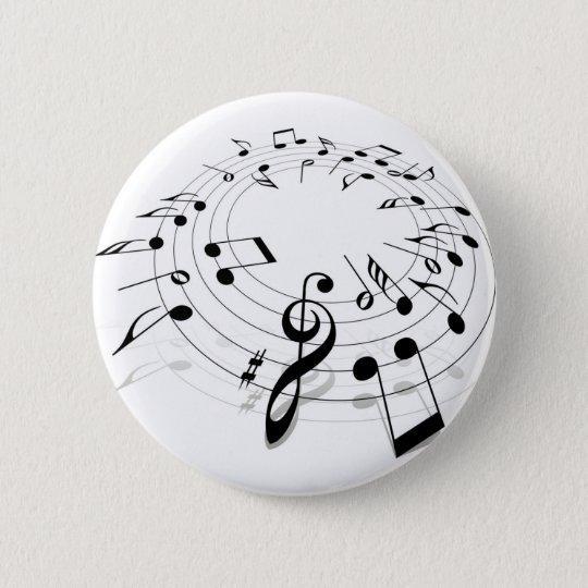 Music Swirl 6 Cm Round Badge
