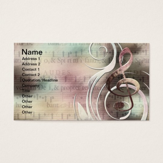 Music Swirl Business cards