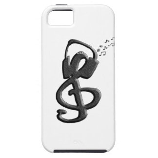 Music Symbol G-clef with headset iPhone 5/5S Case