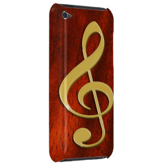 Music Symbol on Cherry Wood iPod Case Case-Mate iPod Touch Case