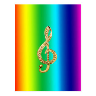 Music Symbol Staff G-Clef Postcard