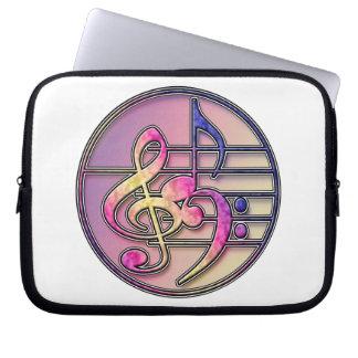Music Symbols 1 laptop sleeve