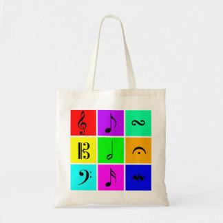 music symbols bag