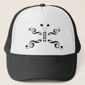 Music Symbols Butterfly Trucker Hat
