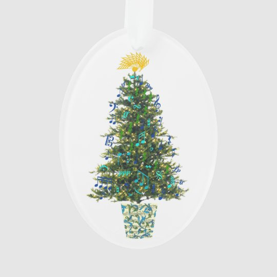 Music Symbols Christmas Tree Customisable Year Ornament
