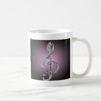 Music Symbols G-clef Basic White Mug
