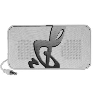 Music Symbols G-clef transform Portable Speakers
