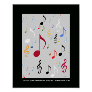 music symbols/ musical notes poster