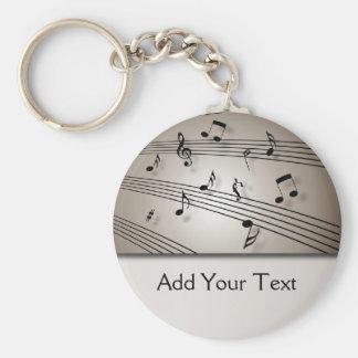 Music Symphony in Ecru Key Chains