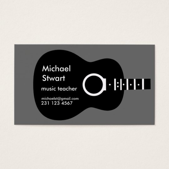 music teacher . acoustic guitar business card