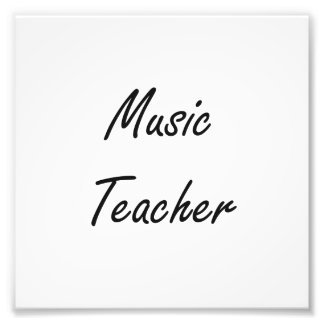 Music Teacher Artistic Job Design Photograph