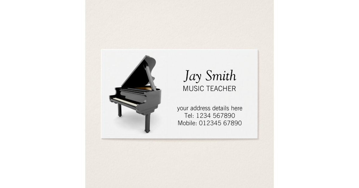 Music Teacher Business Card | Zazzle.co.uk