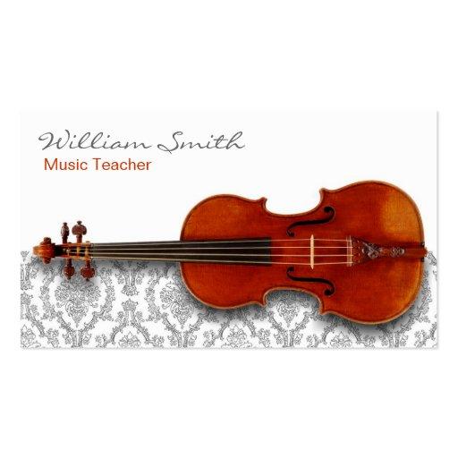 Music Teacher Business Card Template