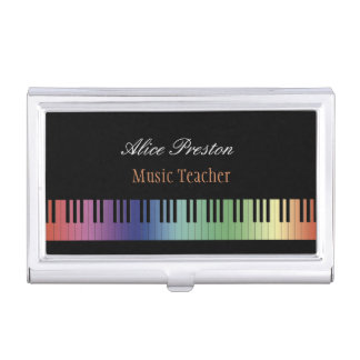 Music Teacher Business Cards Holder