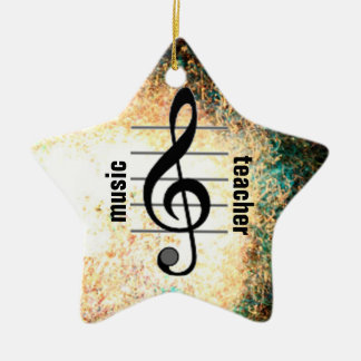 Music Teacher Ceramic Star Decoration
