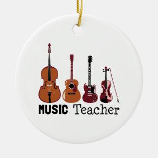 Music Teacher Christmas Ornament