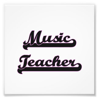 Music Teacher Classic Job Design Art Photo