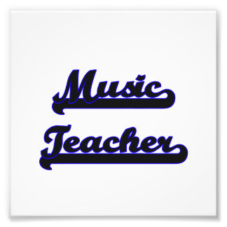 Music Teacher Classic Job Design Photo