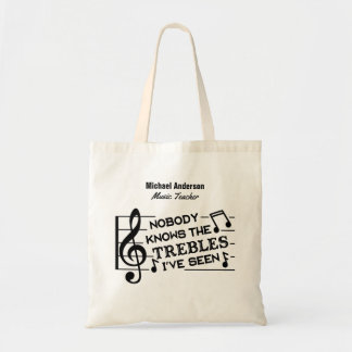 Music Teacher Funny Treble Joke | Name Template