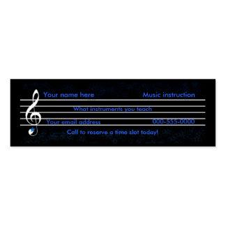 music teacher/instruction business cards