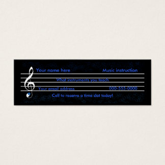 music teacher/instruction mini business card