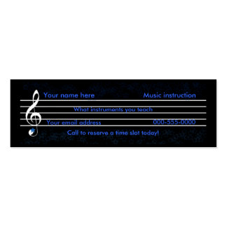 music teacher/instruction pack of skinny business cards
