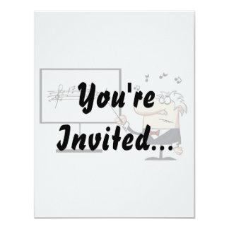 music teacher older man graphic personalized invitations