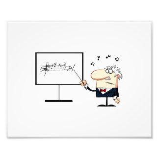 music teacher older man graphic photographic print