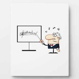 music teacher older man graphic plaque