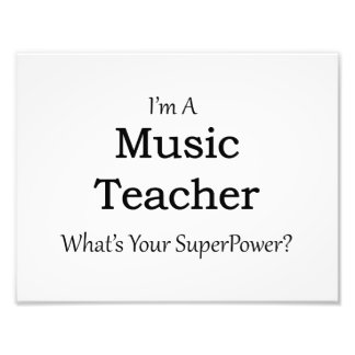 Music Teacher Photo Print