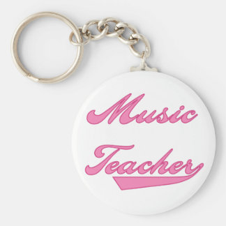 Music Teacher Pink Tshirts and Gifts Key Chains