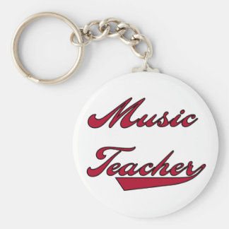 Music Teacher Red Tshirts and Gifts Key Chain