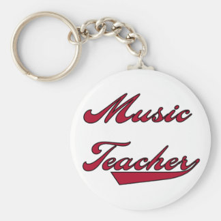 Music Teacher Red Tshirts and Gifts Keychains