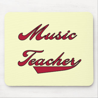 Music Teacher Red Tshirts and Gifts Mouse Pad