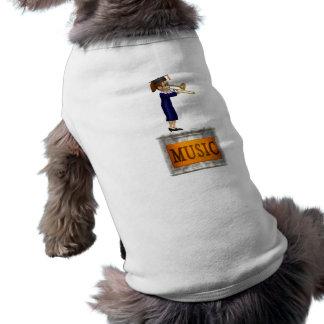 Music Teacher Sleeveless Dog Shirt