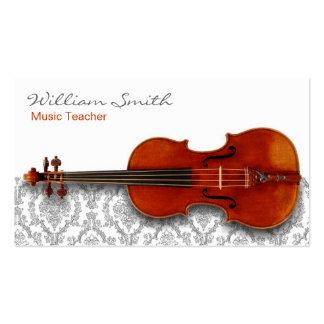 Music Teacher Tarjeta De Negocio