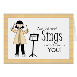 Music Teacher Thank You Card