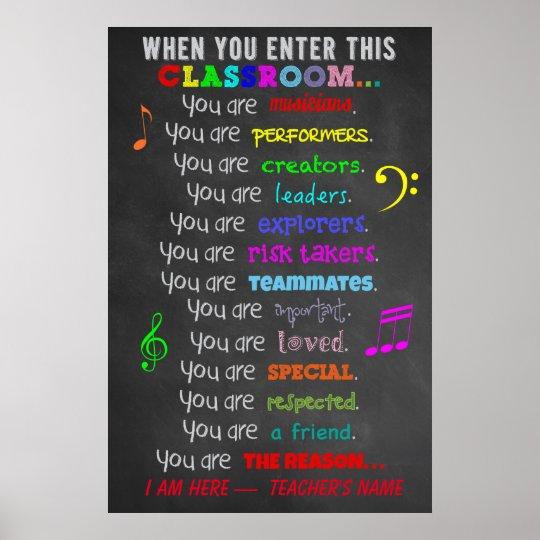 Music Teacher -When You Enter This Classroom Rules