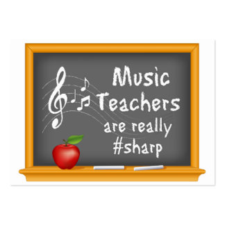 Music Teachers are Really # Sharp Pack Of Chubby Business Cards