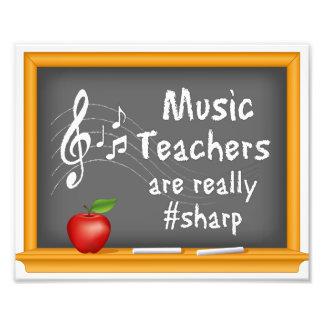Music Teachers are Really # Sharp Photo Art