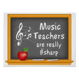 Music Teachers are Really # Sharp Poster