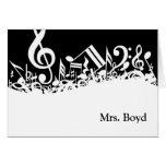 MUSIC TEACHER'S  Customisable Note Cards