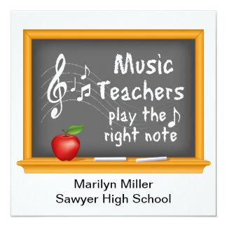 Music Teachers Play the Right Note 13 Cm X 13 Cm Square Invitation Card