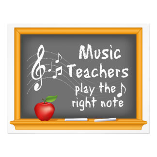 Music Teachers Play the Right Note 21.5 Cm X 28 Cm Flyer