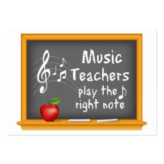 Music Teachers Play the Right Note Pack Of Chubby Business Cards