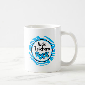 music teachers rock basic white mug
