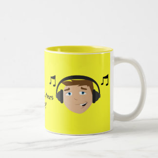 Music Teachers Rock! Two-Tone Coffee Mug