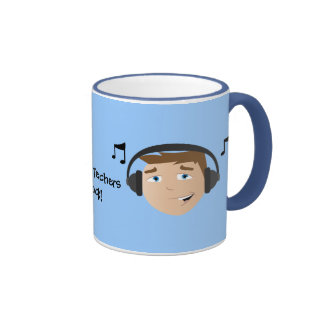 Music Teachers Rock! Ringer Coffee Mug